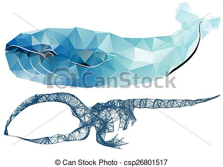 450x338 Whale Skeleton. Abstract Silhouettes Of Whale And Scheleton.