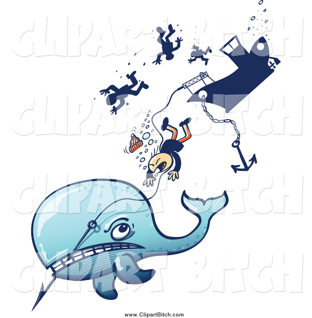 1024x1044 Clip Vector Art Of A Angry Whale Taking Down A Ship By Zooco