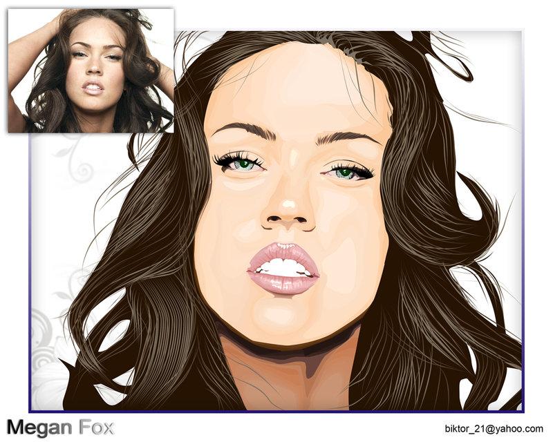 800x640 Megan Fox Vector Art By Biktor21