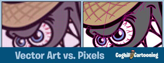 540x209 Cartoon Logos 101 Vector Art Vs. Pixels