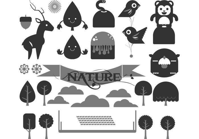 700x490 Happy Forest Vector Pack