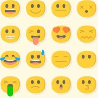336x336 Whatsapp Emoji Vector