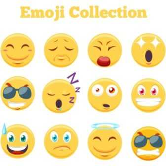 336x336 Free Vector 2018 Cool Whats App Emoji Collection