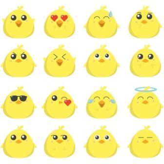 336x336 Free Whatsapp Vector Chicken Baby Emotions Emoji Httpwww