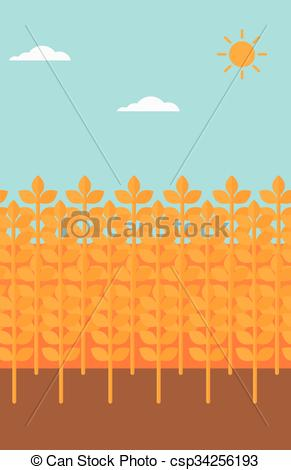 291x470 Background Of Wheat Field. Background Of Wheat Field Vector Flat