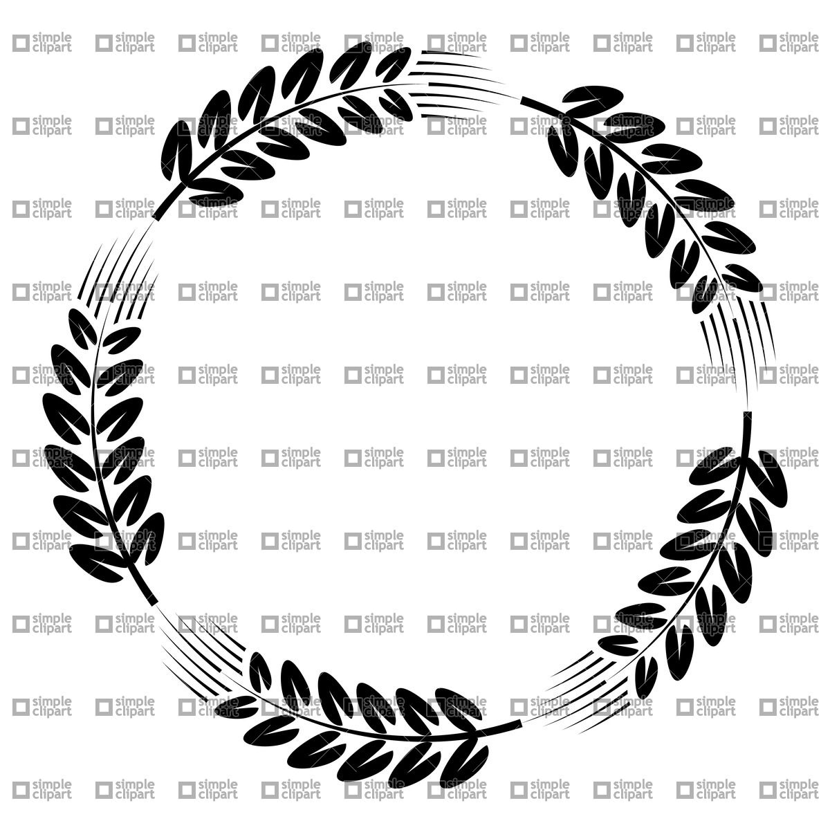 1200x1200 Wreath Made Of Ear Of Wheat Vector Image