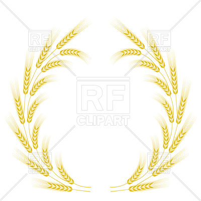 400x400 Frame With Yellow Wheat Vector Image Vector Artwork Of Borders