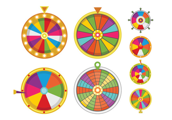 352x247 Vector Colorful Wheels Of Fortune Set Free Vector Download 360651