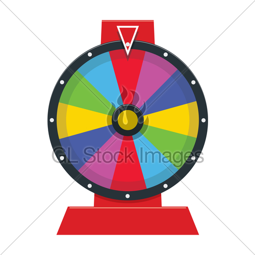 500x500 Vector Fortune Wheel Gl Stock Images