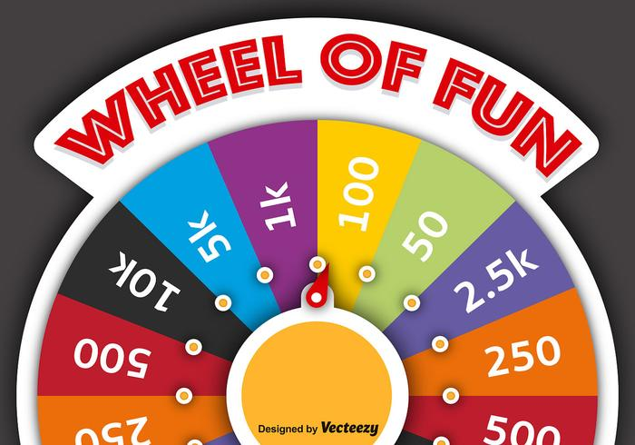 700x490 Vector Spinning Wheel Of Fortune