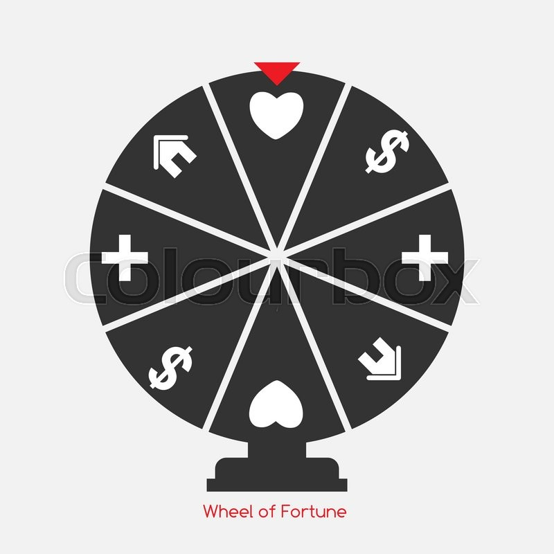800x800 Wheel Of Fortune, Lucky Icon With Money, Health, Home And Love