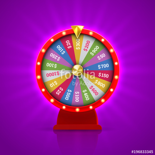 500x500 Wheel Of Fortune Roulette For Gambling Lottery Game. Vector Gamble