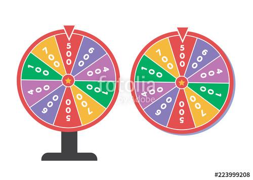 500x357 Wheel Of Fortune Vector Illustration. Wheel Of Fortune Logo Stock