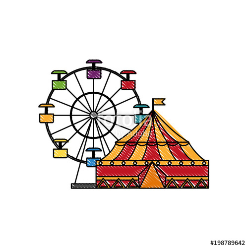 500x500 Circus Tent And Wheel Fortune Stock Image And Royalty Free Vector