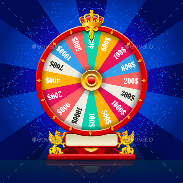 590x590 Fortune Wheel Realistic Vector Spinning Lucky Roulette By Aurielaki