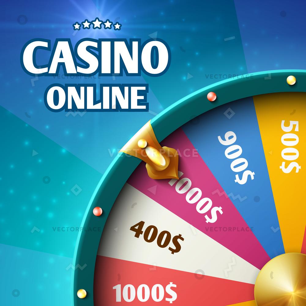 1000x1000 Internet Casino Marketing Background Spinning Fortune Vector