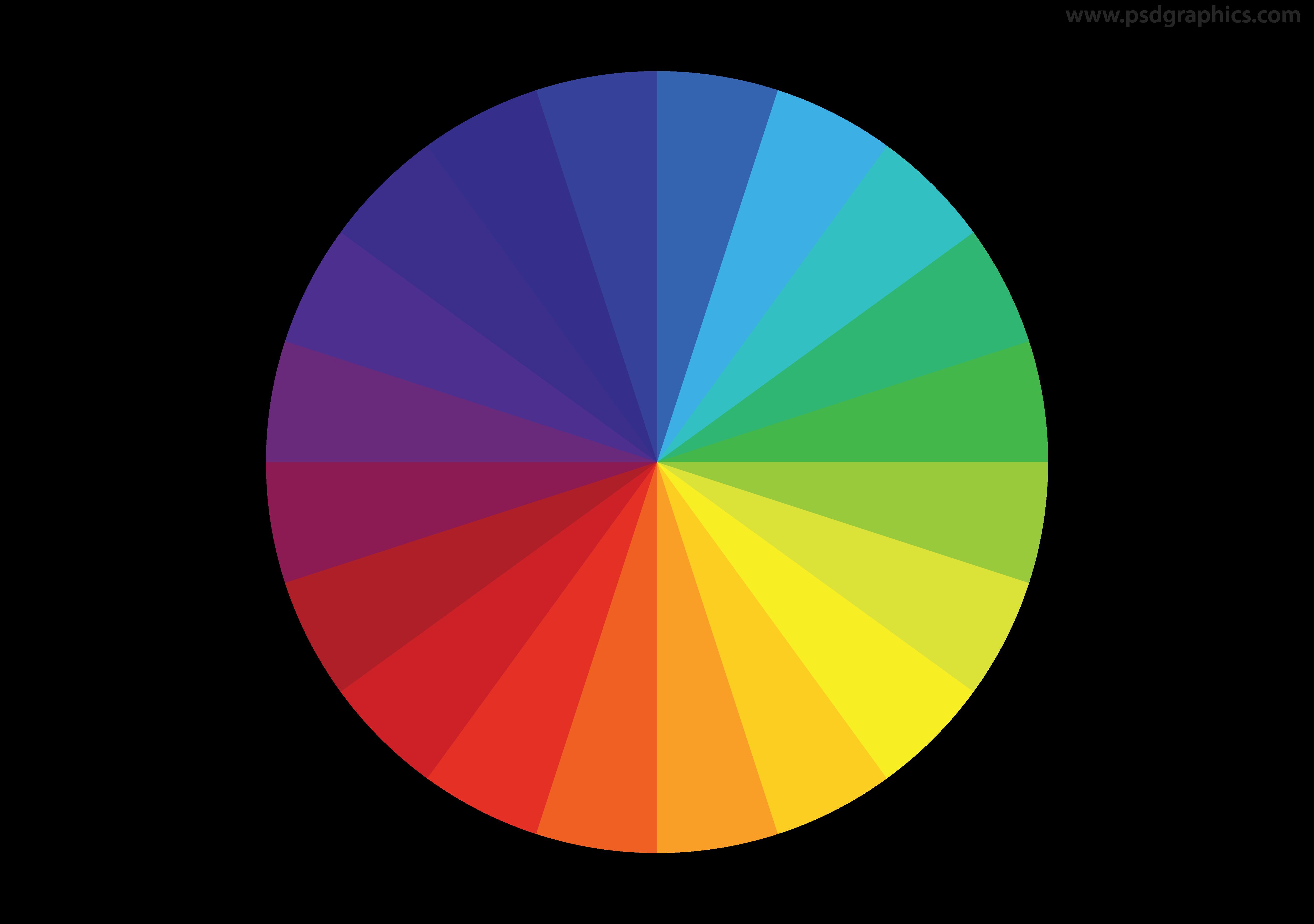 5000x3517 Color Wheel Vector Psdgraphics