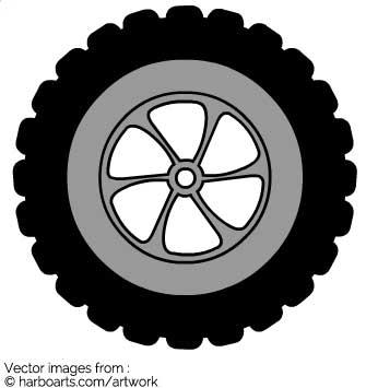 335x355 Download Tread Truck Wheel
