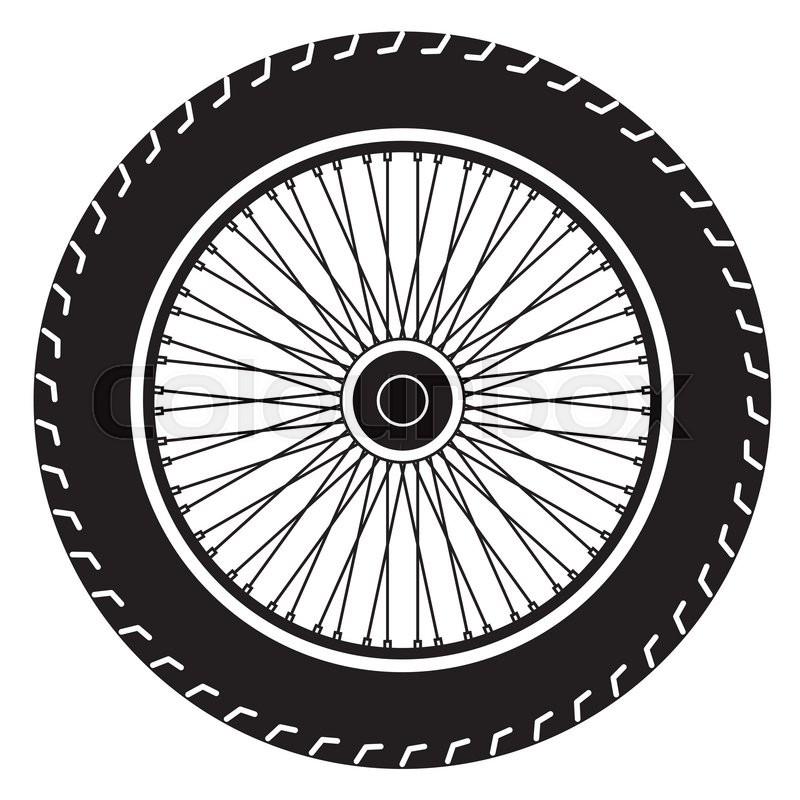800x800 Image Of Wheel Vector Isolate On White Stock Vector Colourbox