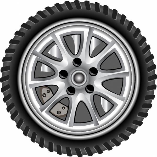 600x600 Realistic Wheel Free Vector In Adobe Illustrator Ai ( .ai