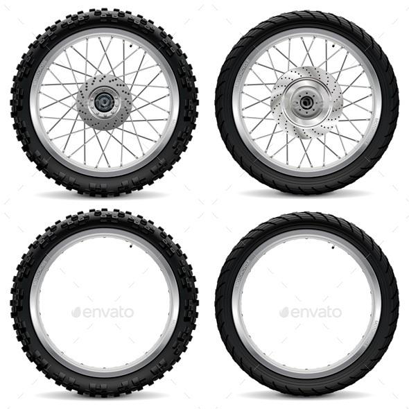 590x590 Vector Motorcycle Wheel Icons By Dashadima Graphicriver