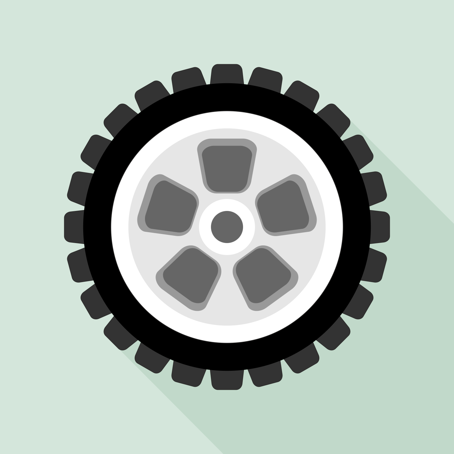 1500x1500 Vector For Free Use Wheel Icon