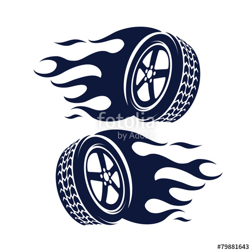 500x500 Car Wheel Fire Abstract Stock Image And Royalty Free Vector Files