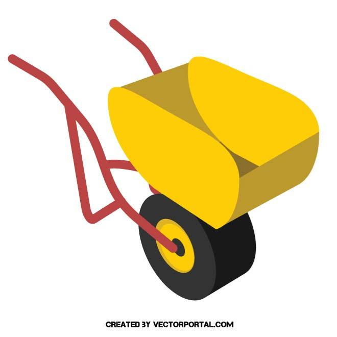 660x660 Wheelbarrow Vector Image