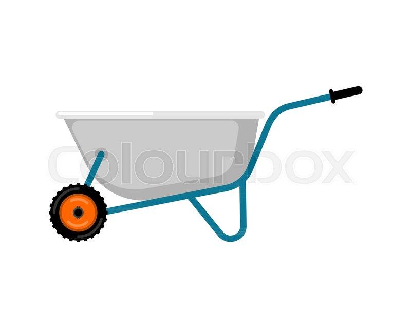 800x639 Wheelbarrow Garden Isolated. Grounds Trolley. Vector Illustration