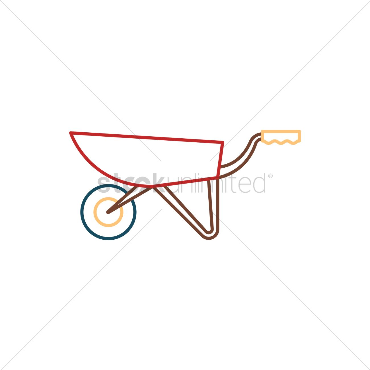 1300x1300 Wheelbarrow Vector Image