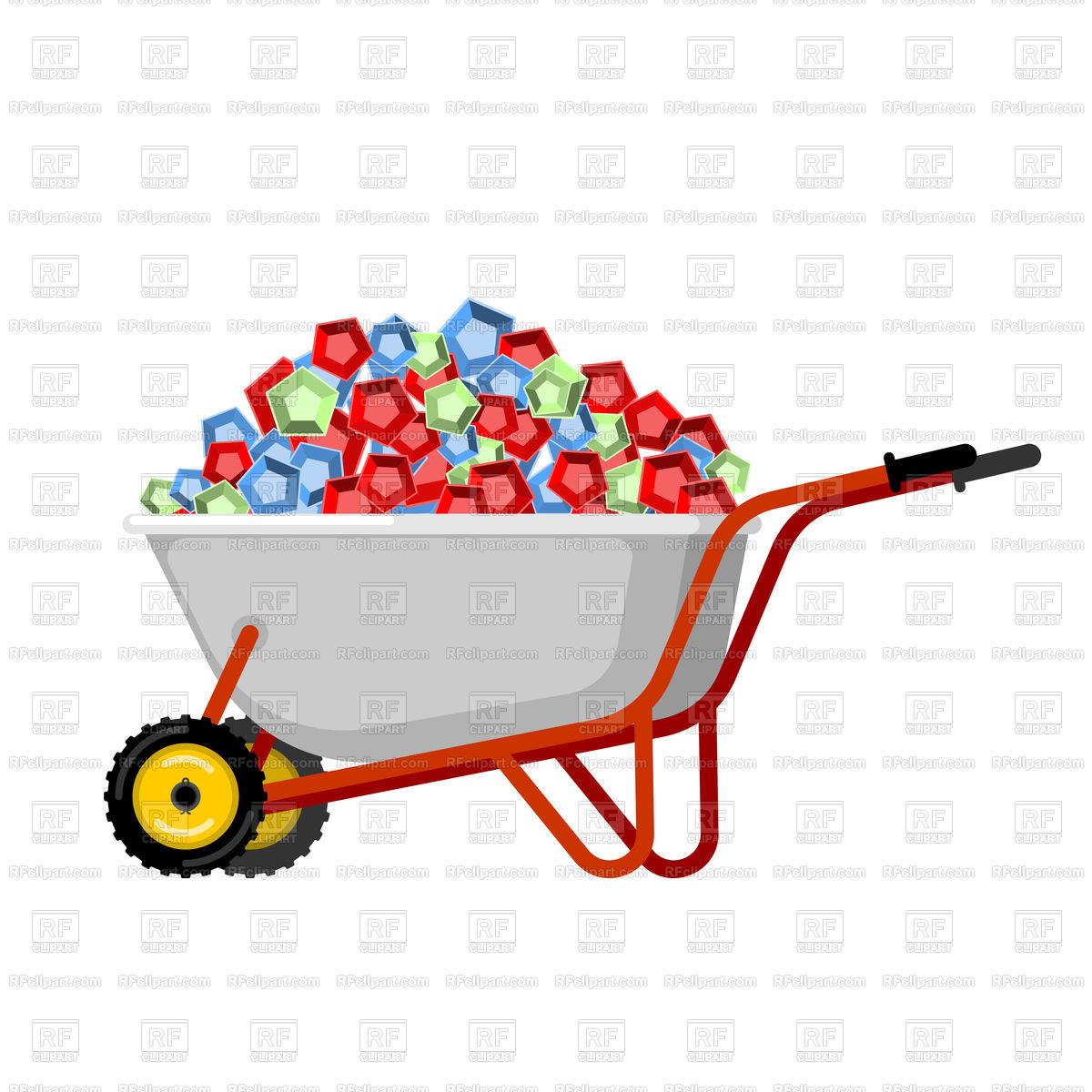 1200x1200 Wheelbarrow And Gems Vector Image Vector Artwork Of Conceptual