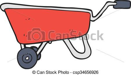 450x258 Freehand Drawn Cartoon Wheelbarrow.