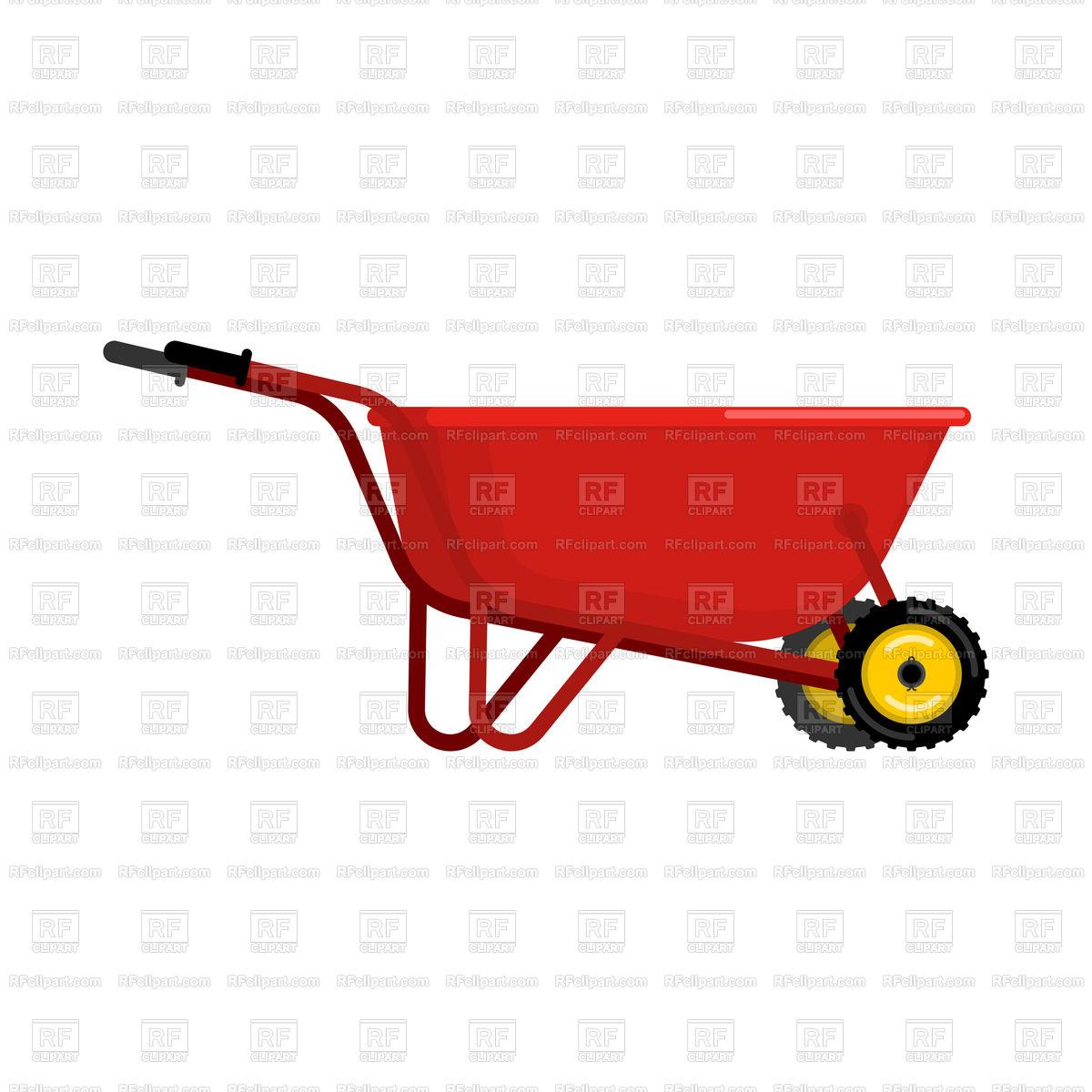 1200x1200 Red Wheelbarrow Vector Image Vector Artwork Of Objects