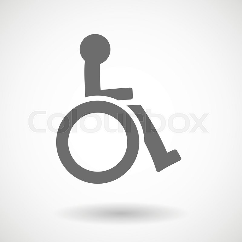 800x800 Isolated Vector Illustration Of A Human Figure In A Wheelchair