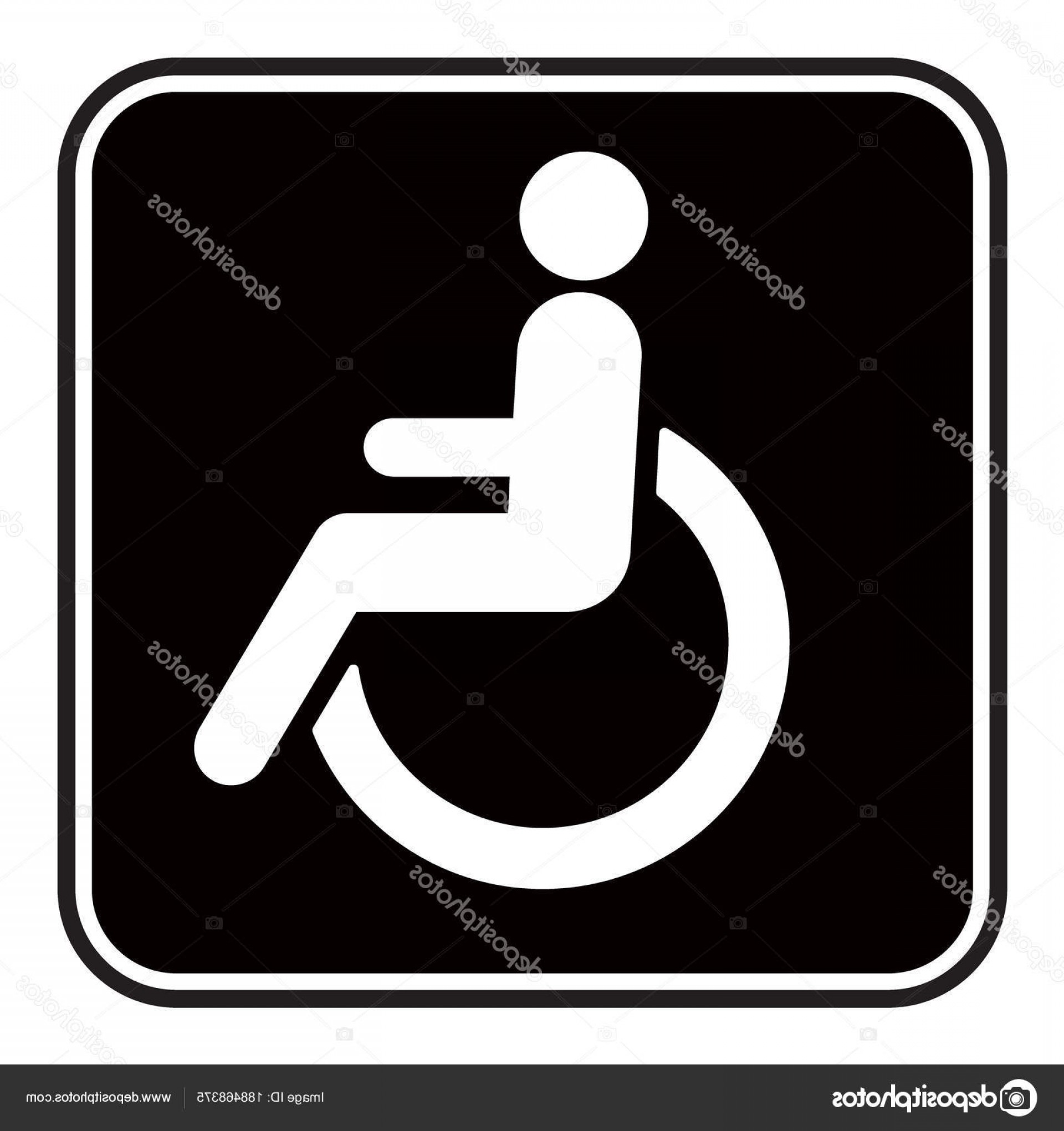 1920x2040 Stock Illustration Disabled Wheelchair Icon Vector Illustration