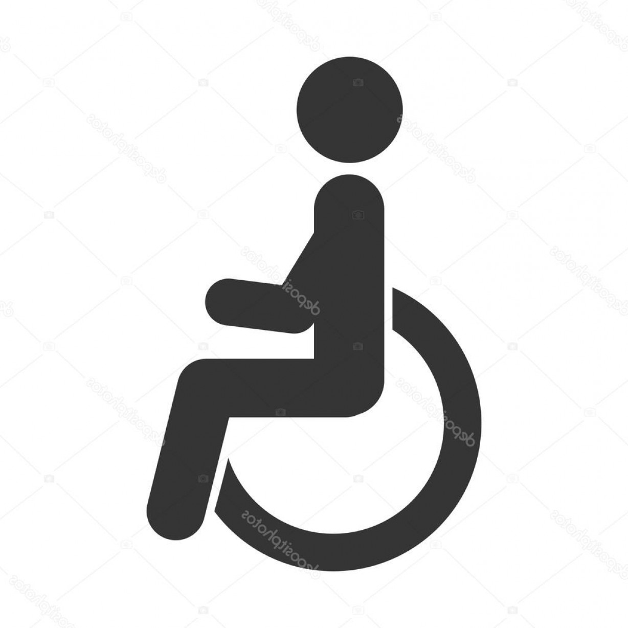 1228x1228 Stock Illustration Handicapped Symbol Wheelchair Icon Vector