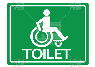 400x283 Toilet Restrooms For Wheelchair Handicap Icon Vector Image