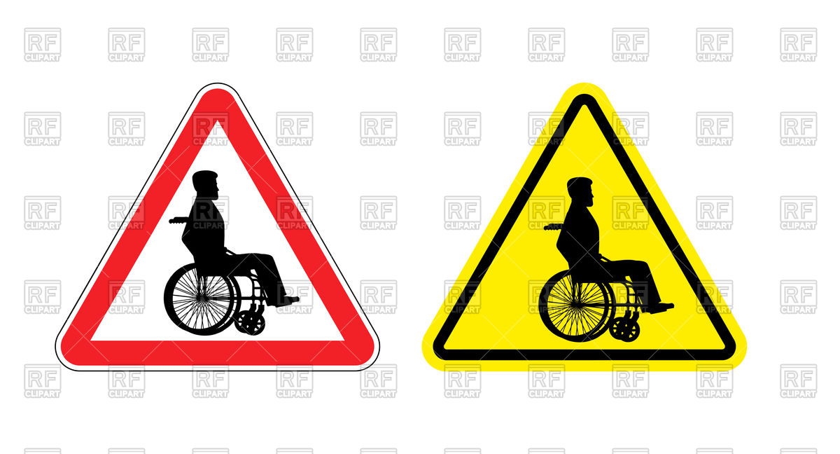 1200x648 Attention Wheelchair Icon Vector Image Vector Artwork Of Signs