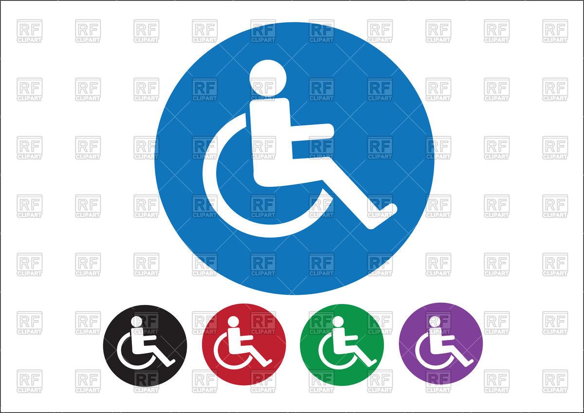 1200x849 Wheelchair Handicap Icon Vector Image Vector Artwork Of Signs