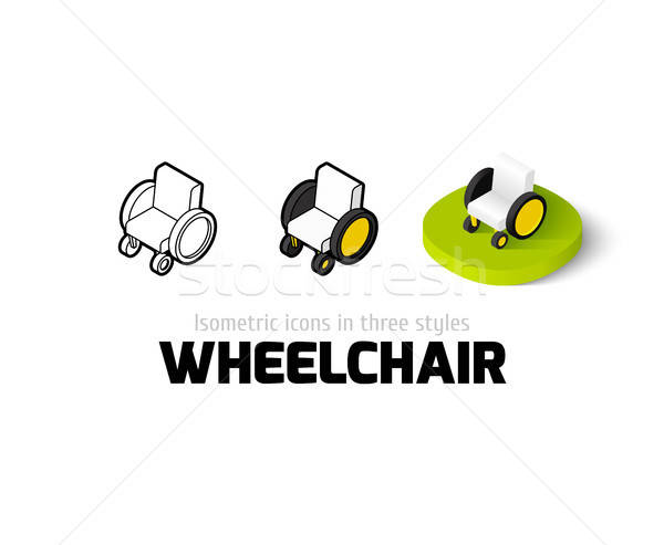 600x493 Wheelchair Icon In Different Style Vector Illustration Sidmay