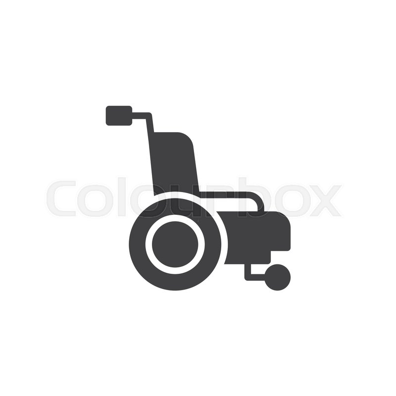 800x800 Wheelchair Icon Vector, Filled Flat Sign, Solid Pictogram Isolated