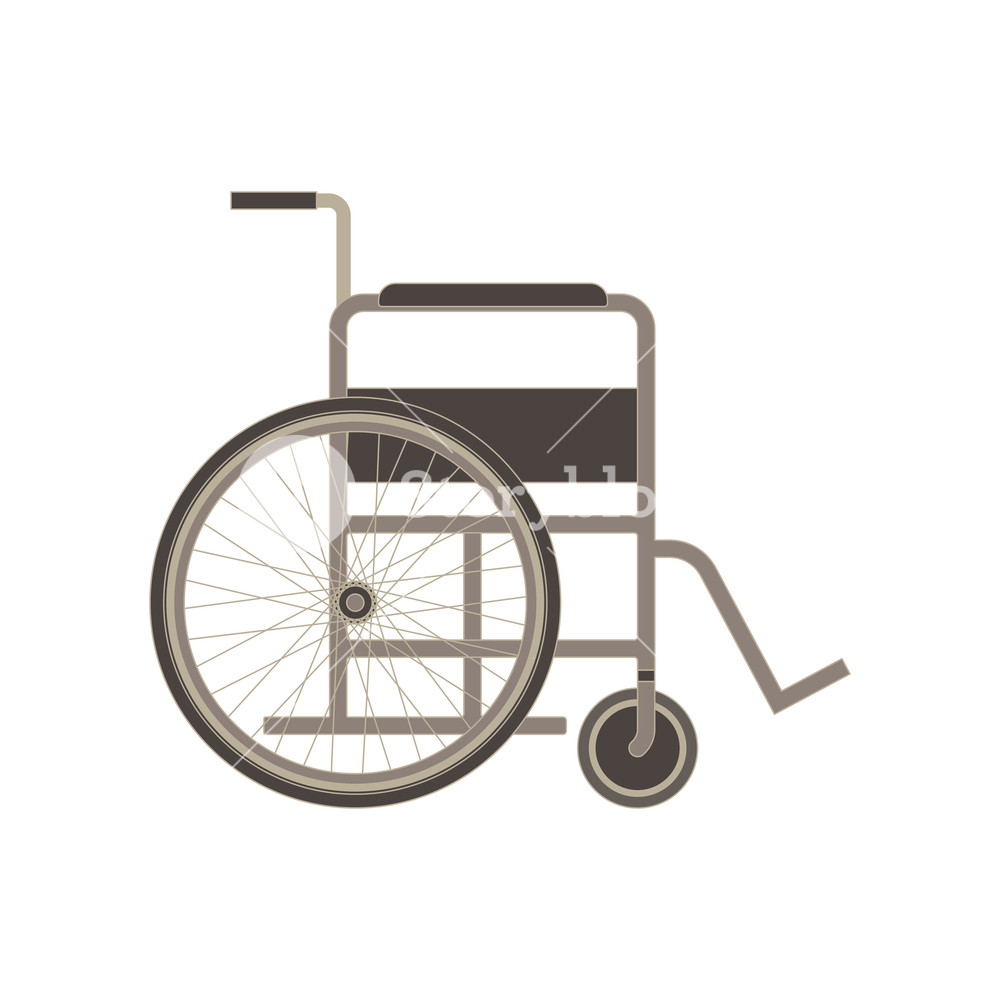 1000x1000 Wheelchair Icon Vector Disabled Illustration Isolated Handicapped