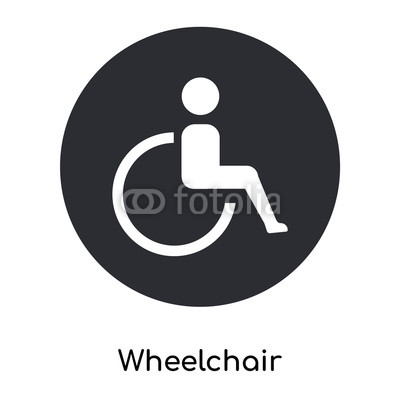 400x400 Wheelchair Icon Vector Sign And Symbol Isolated On White