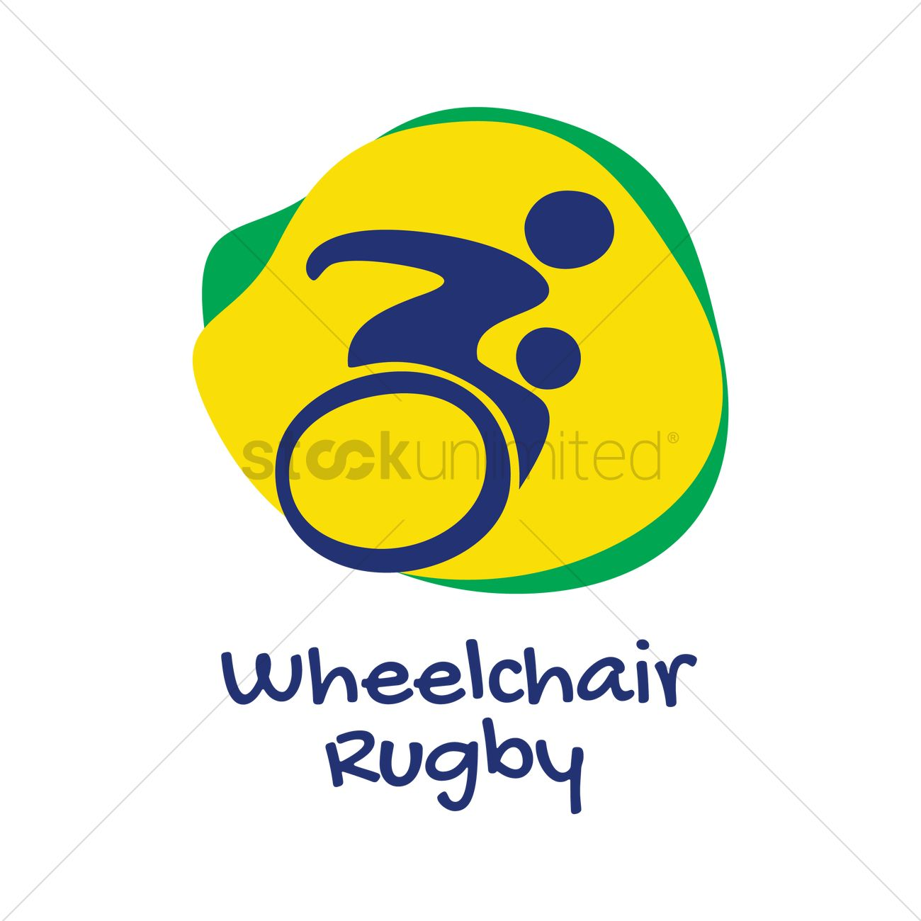 1300x1300 Wheelchair Rugby Icon Vector Image