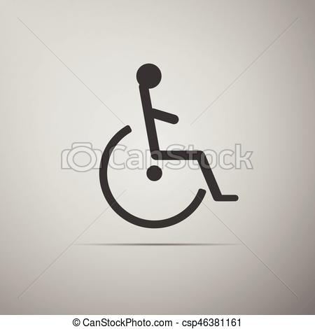 450x470 Disabled Handicap Icon. Vector Illustration.
