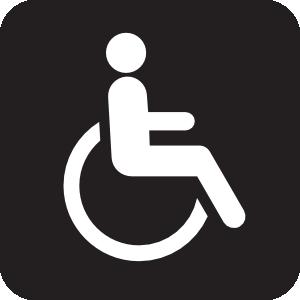 300x300 Wheelchair Accessible Black Clip Art