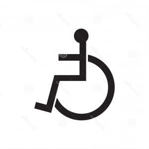 300x300 Wheelchair Handicap Symbol Icon Raster Versionvector Shopatcloth
