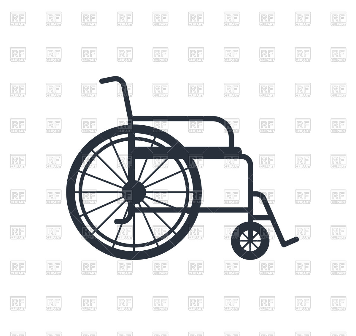 1200x1134 Wheelchair For Disabled People Vector Image Vector Artwork Of
