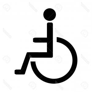 300x300 Black Sign Of Disabled Wheelchair Vector Clipart Lazttweet