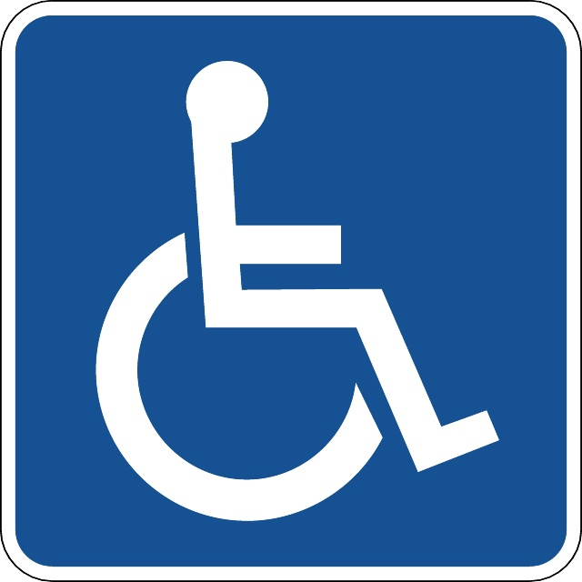 640x640 Disabled Vector Sign